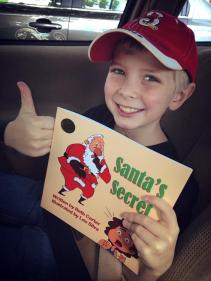 Alex's thumbs up for Santa's Secret (2)