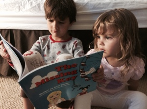 Drew reading TMK to Miri (2)