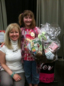 Sierra won my gift basket at the 100th Anniversary Expo for the Girl Scouts.