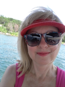 Me at lake with red visor (2)