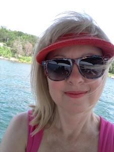 Me at lake with red visor (2)